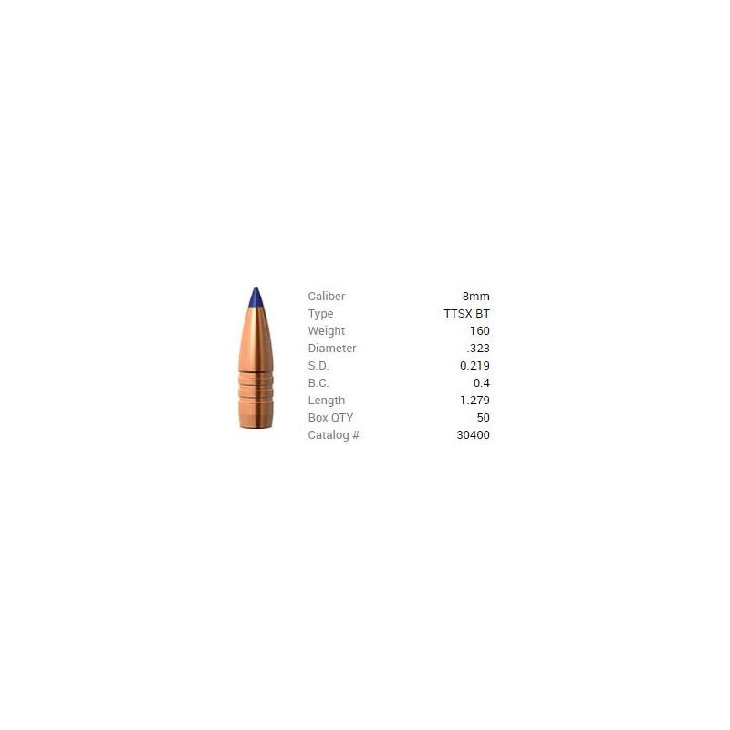 P 8mm (.323) 160Gr Barnes...