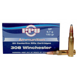 Ammo 308 Win 150gr PPU SP 20's