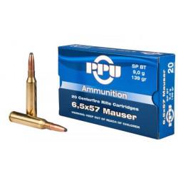 Ammo 6.5x57 Mau 139Gr PPU...