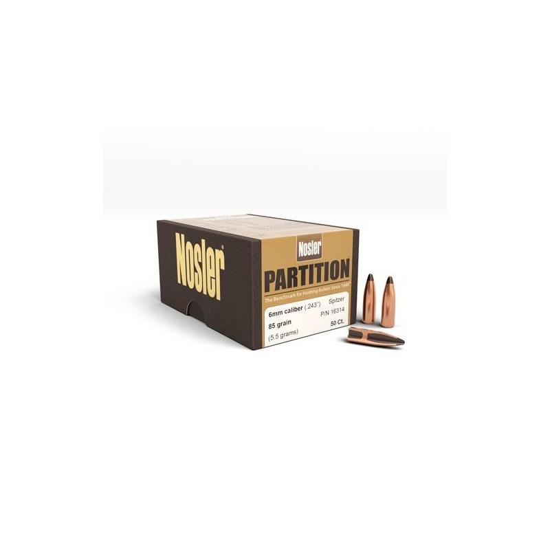 P 6mm (243) 85Gr Nosler...