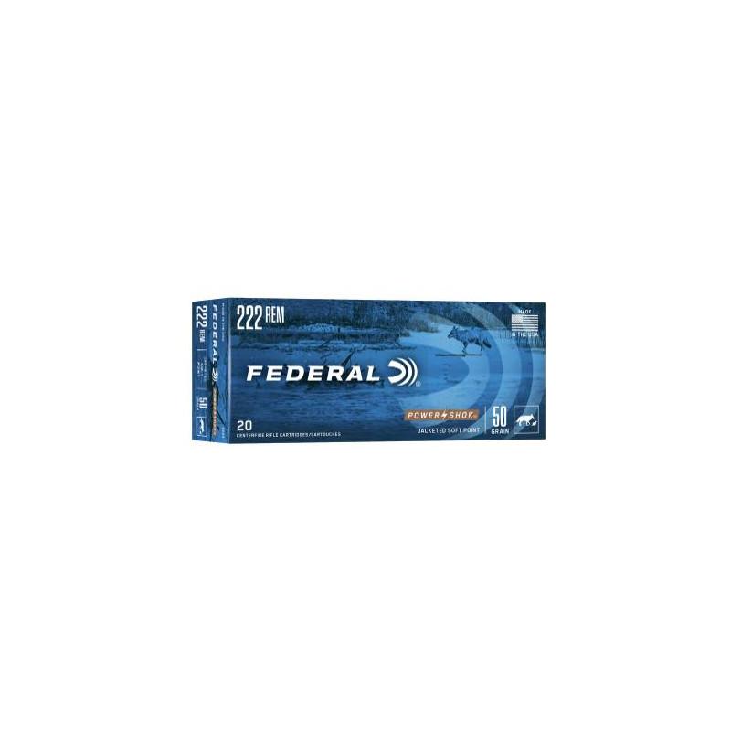 Ammo 222 Rem 50Gr Federal...