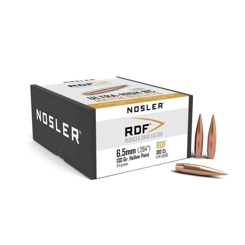 P 6.5mm 130Gr Nosler RDF...