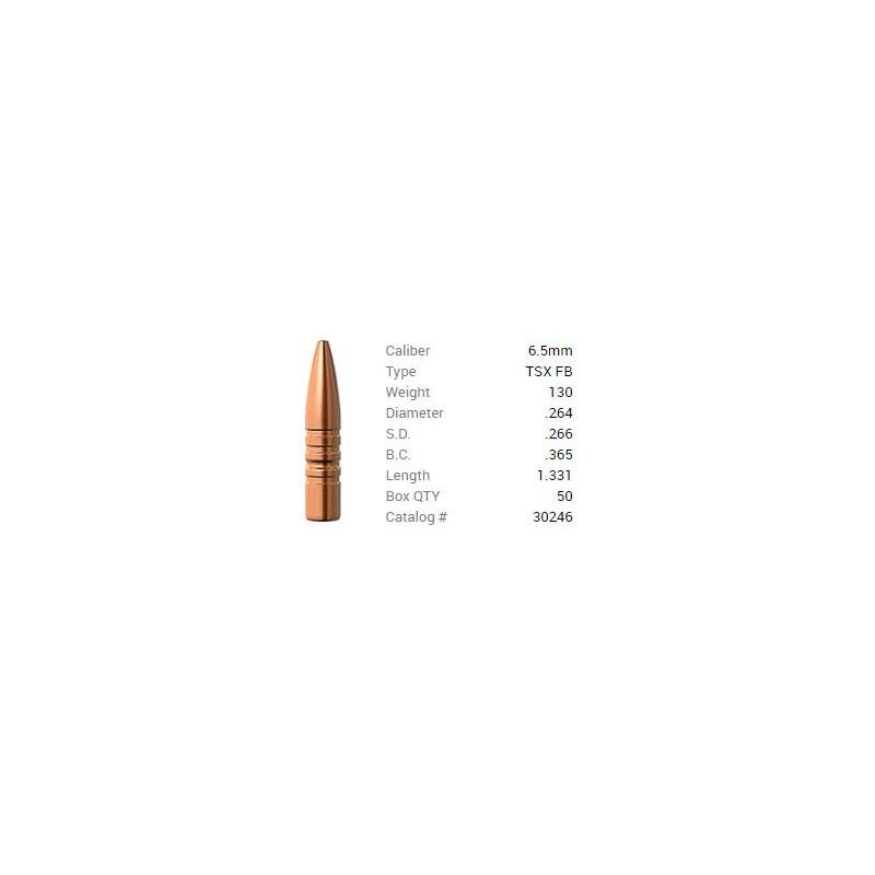 P 6.5mm 130Gr Barnes TSX FB...
