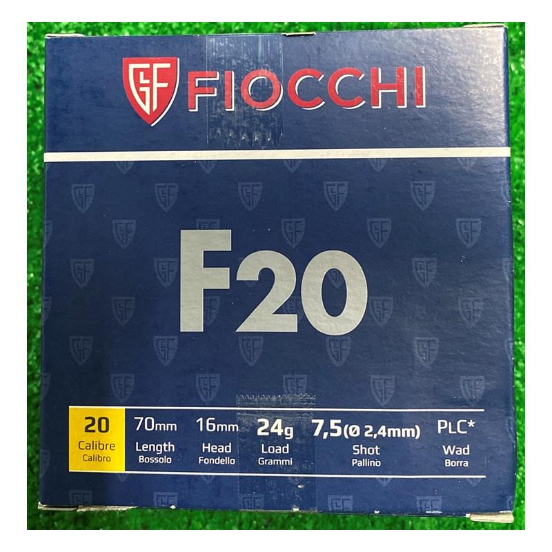 Ammo 20Ga 7.5 24gr Fiocchi...